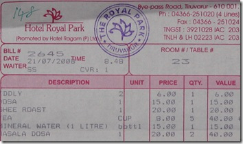 the royal park bill