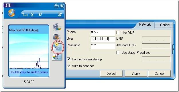 configuring BSNL EVDO