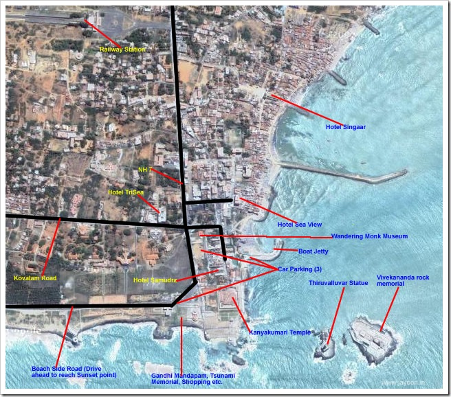 kanyakumari detailed map