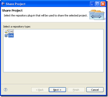 Configuring Subclipse on Eclipse - Step 5
