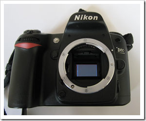 Nikon D80 DSLR - image sensor exposed