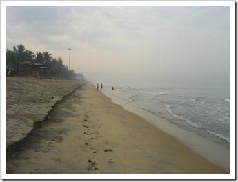 Calm cherai beach in the morning