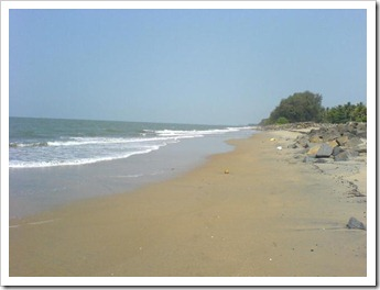 Defence against tides - cherai beach