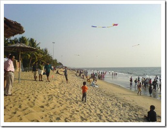 Kite flying at cherai beach