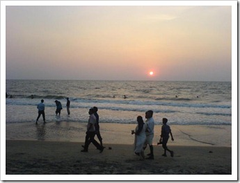 Sunset at cherai beach