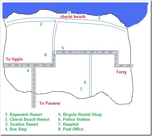 Cherai beach map
