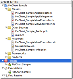 Piechart sample code in Xcode - Step 1
