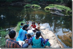 Breakfast at the Kulathupuzha river