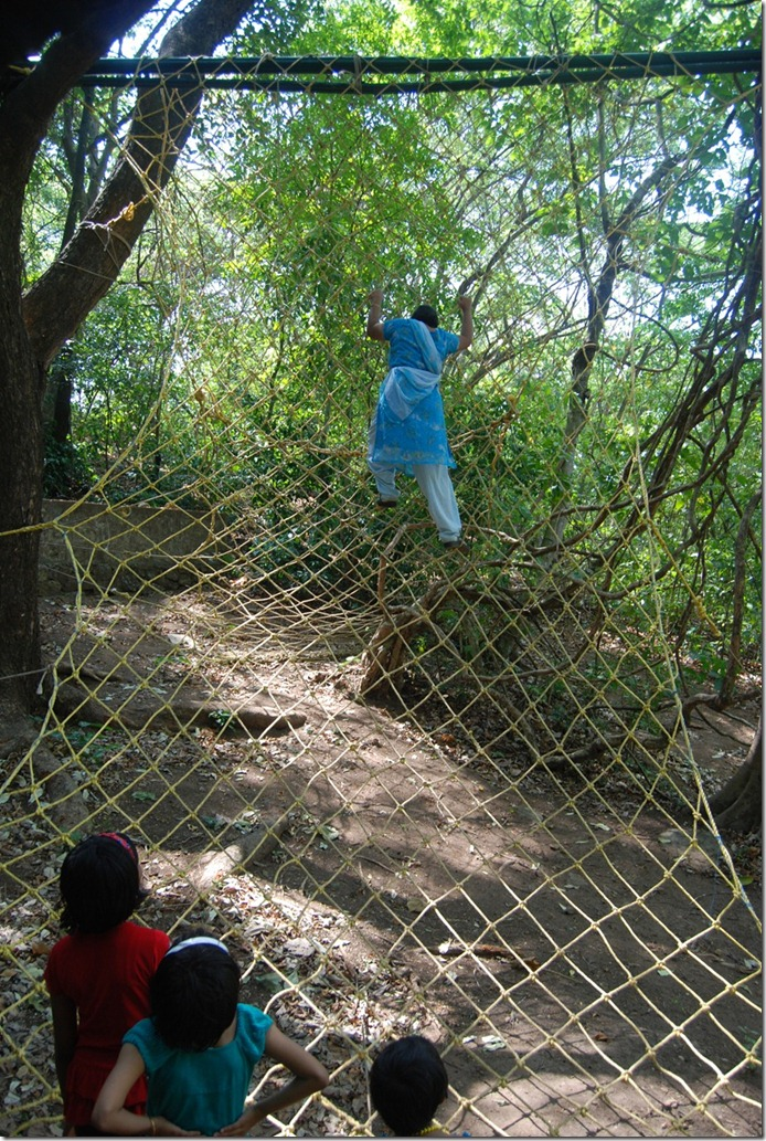 Net climbing at Thenmala