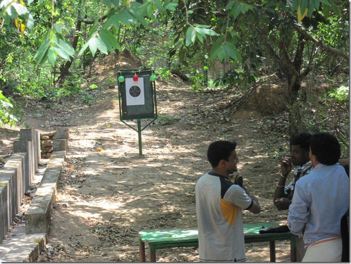 Shooting range at Thenmala adventure zone