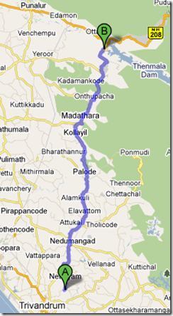 Getting to Thenmala from Trivandrum