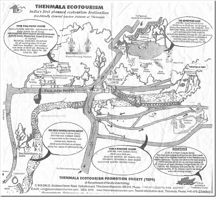 thenmala ecotourism map