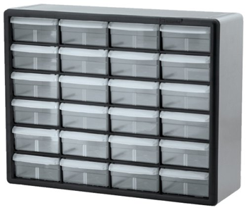 Akro-Mils 10724 24-Drawer Plastic Parts Storage Hardware and Craft Cabinet