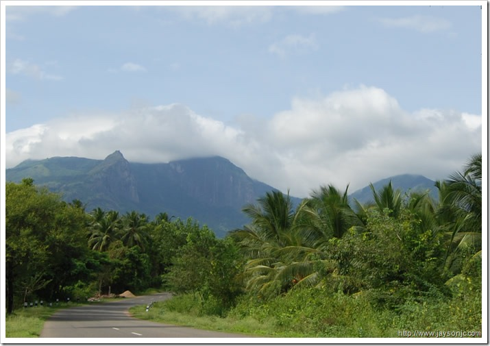View of the Aanamalai Hills from Aliyar