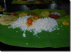 Onam sadya at Valparai
