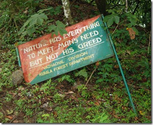 Words of wisdom from Kerala forest department