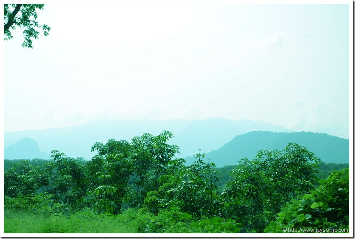View of the western ghats before reaching Vithura