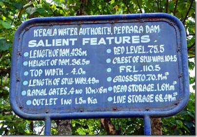 Features of Peppara Dam