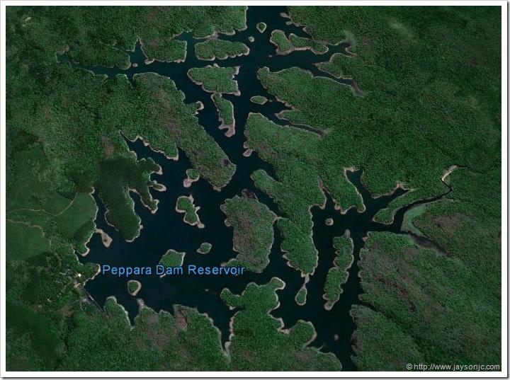 Peppara Dam Map