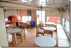 Sagara Rani lower deck restaurant