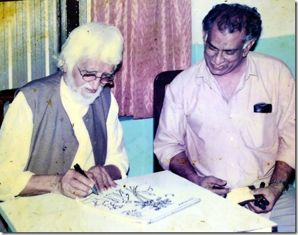 M.F. Hussain in Kayees