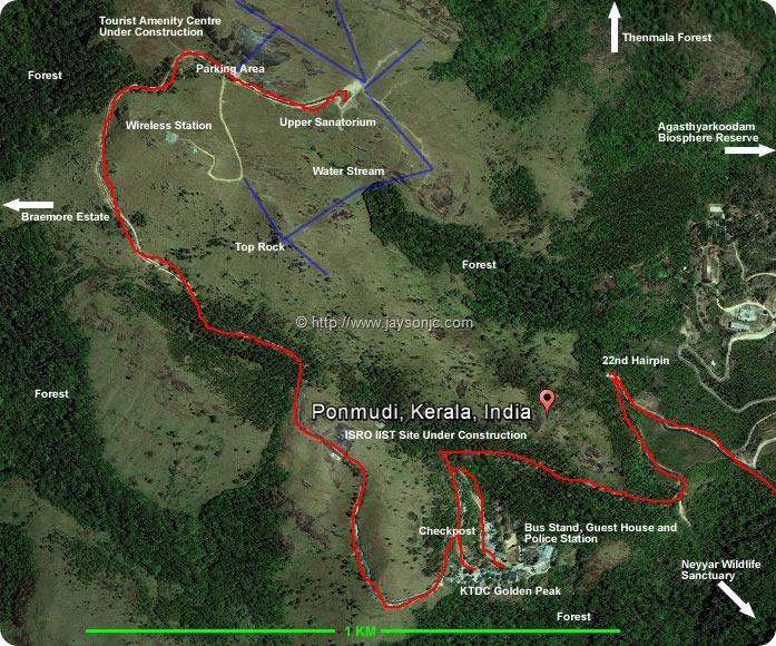 Ponmudi Location Map
