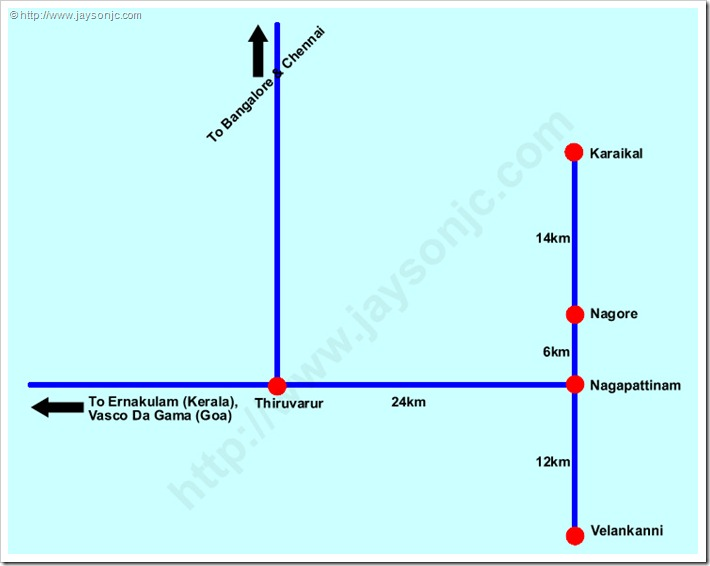 Velankanni Rail Routes