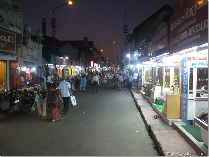 Chalai market road at night